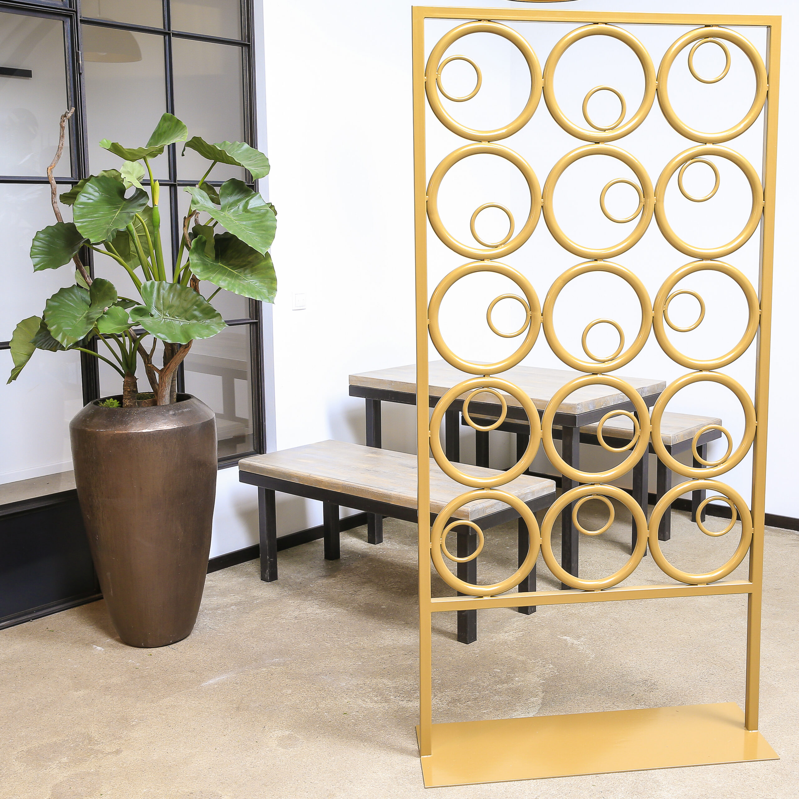 Raumteiler Goldene Kreise