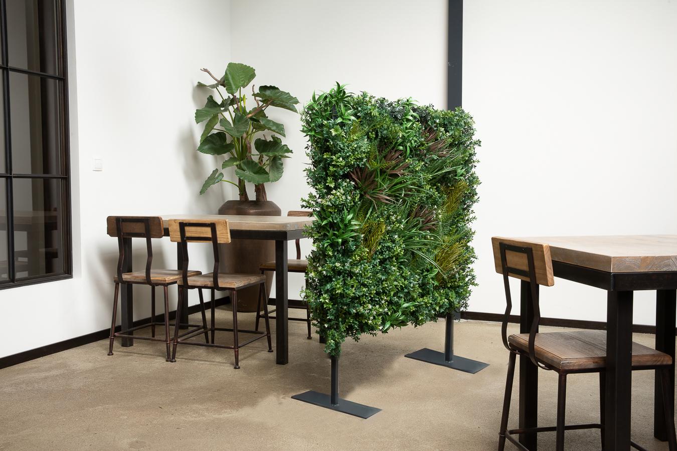 Raumteiler, Ansteckungsschutz, künstliche Pflanzen, Innenbereich, Außenbereich, Outdoor, Raumtrenner